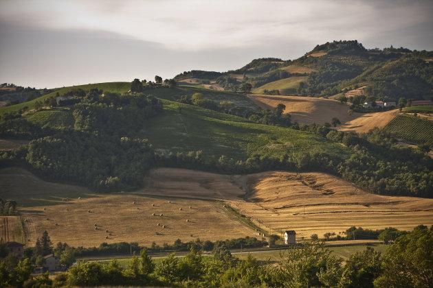 Het uitzicht vanaf Alla Vecchia Quercia bij Pergola
