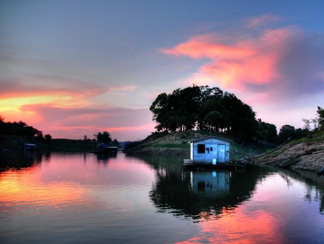Amazone zonsondergang