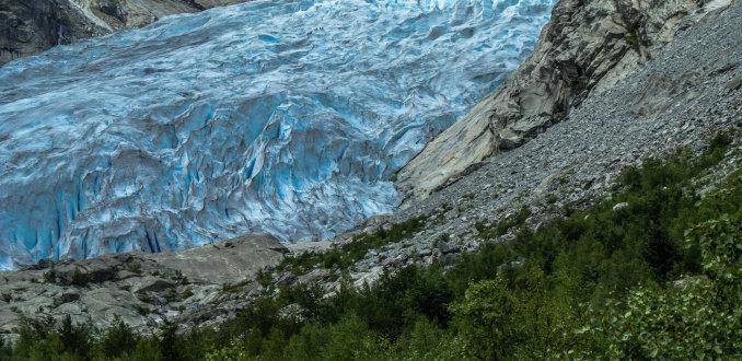 Wandelen op de gletsjer