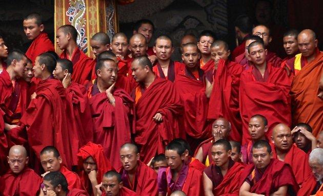 Monniken in de hitte