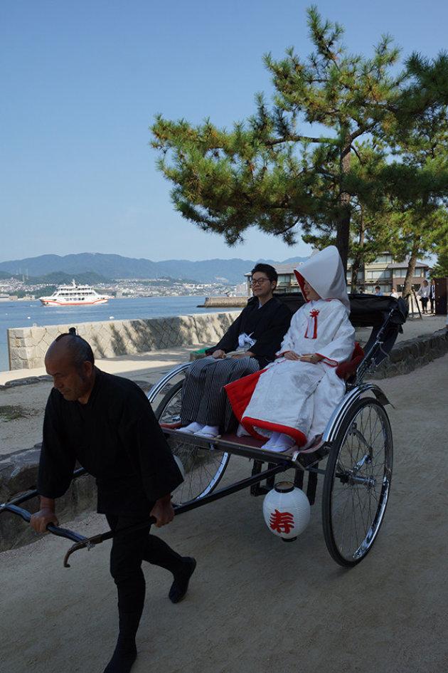 Trouwpaar in Miyajima