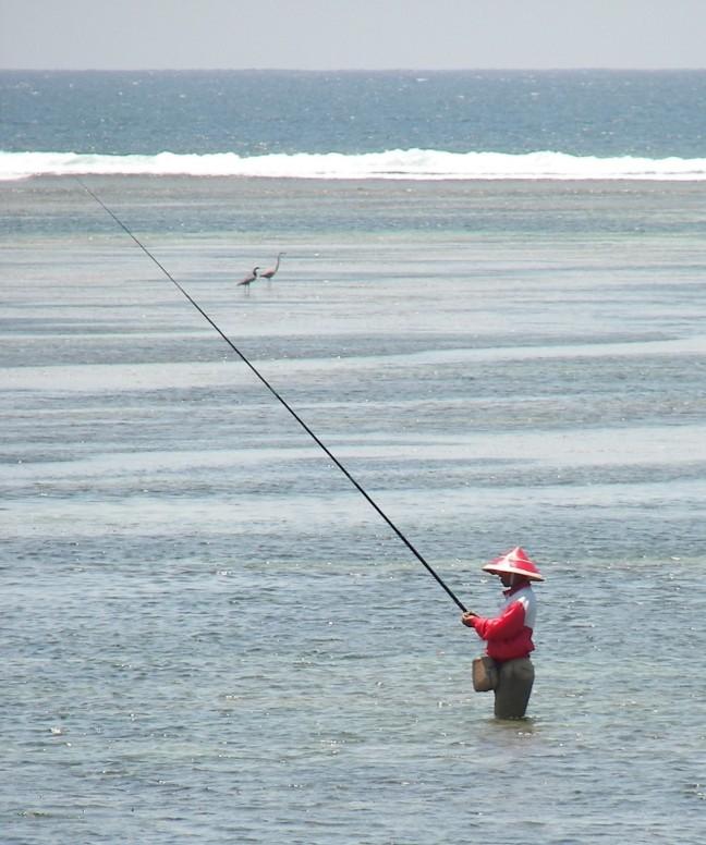 Meerdere vissers op Bali