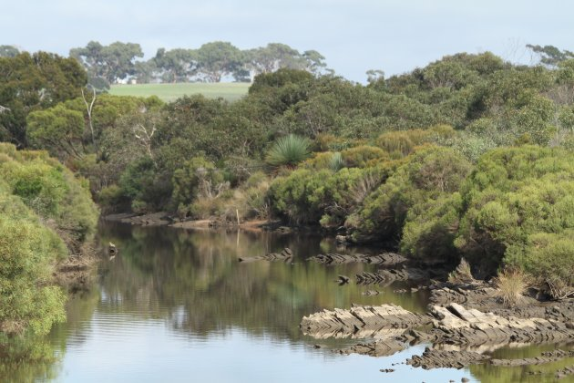 River crossing op Kangaroo Island
