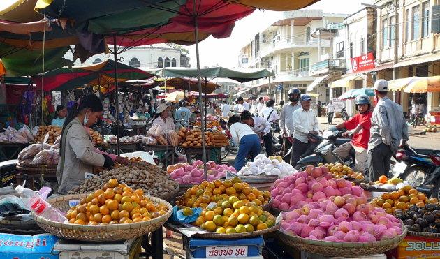 De markt in Kratie .