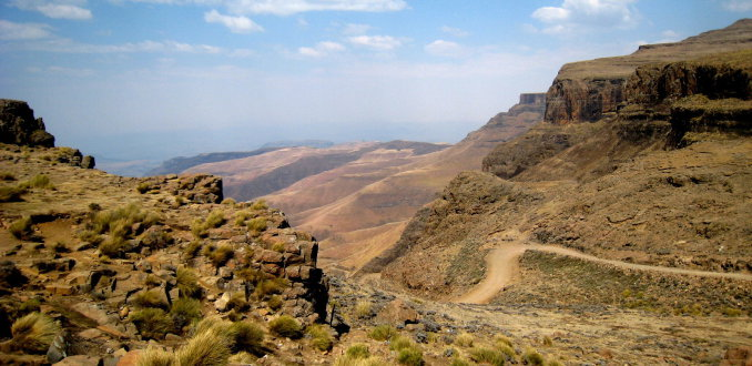 Drakensbergen, uitzicht vanaf 2800 meter