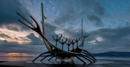 Vikingschip in Reykjavik