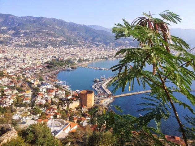 uitzicht vanaf kasteel Alanya