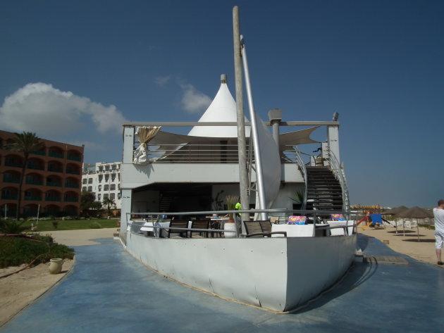 Terras op boot