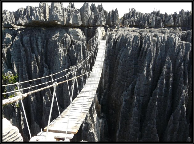Suspension bridge Tsingy