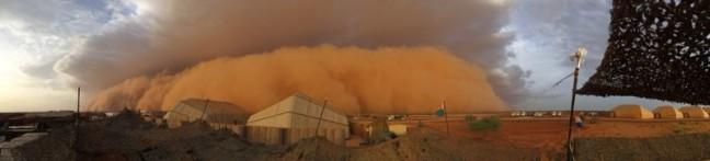 Zandstorm woestijn Mali