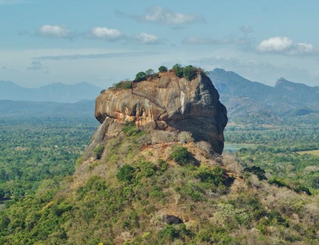 sigiriya rots vanaf de Pidurangala rots