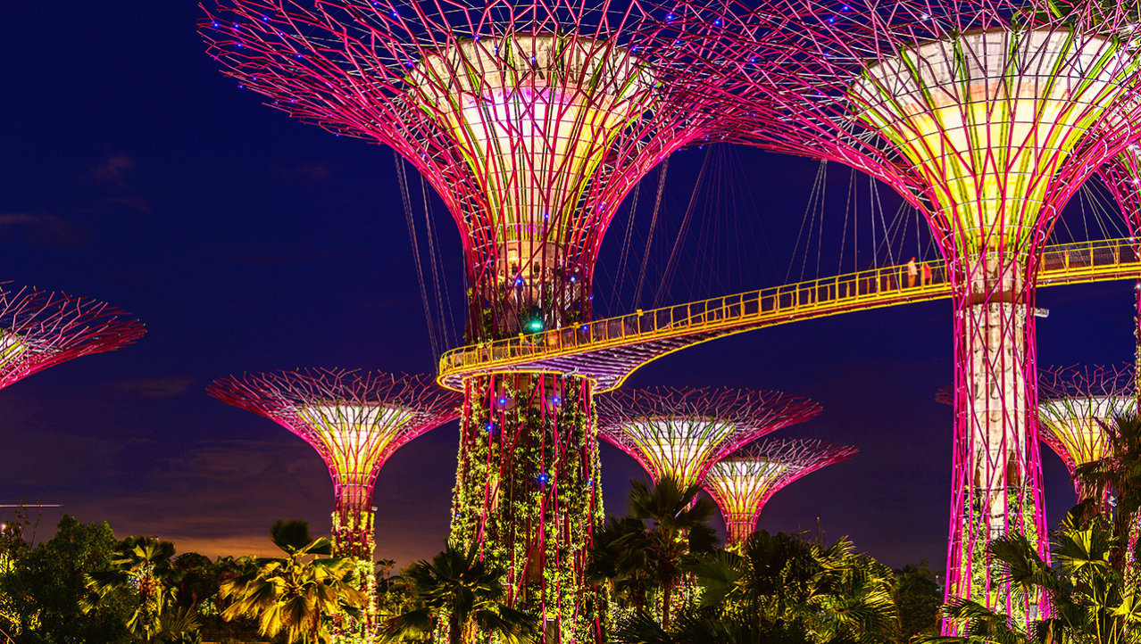 Avond in Garden by the Bay
