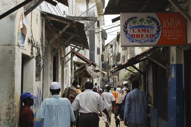 Lamu, main street