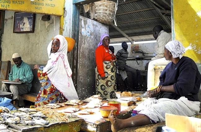 vrouwen op de markt