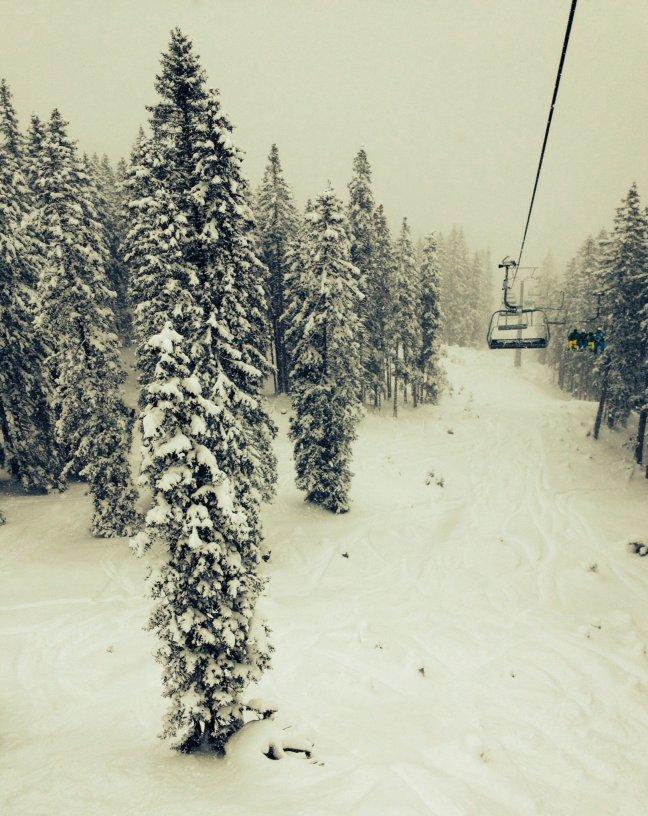 In de skilift