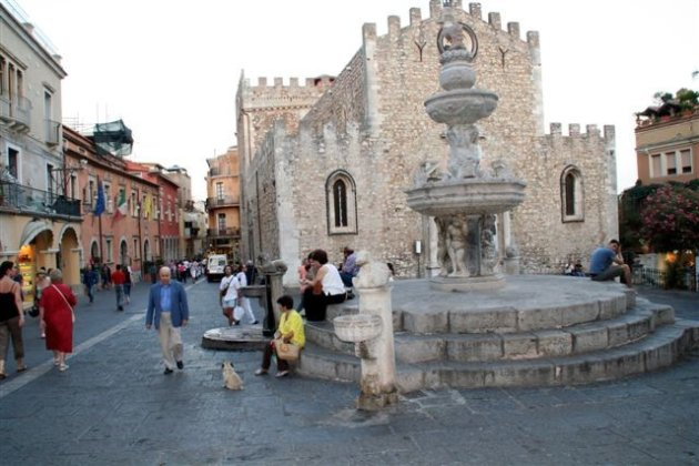 Pleintje in Taormina