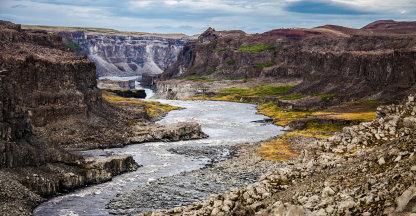 Indrukwekkende canyon Jökulsá