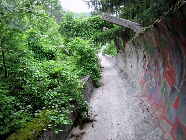 Voormalige Olympische bobsleebaan van Sarajevo