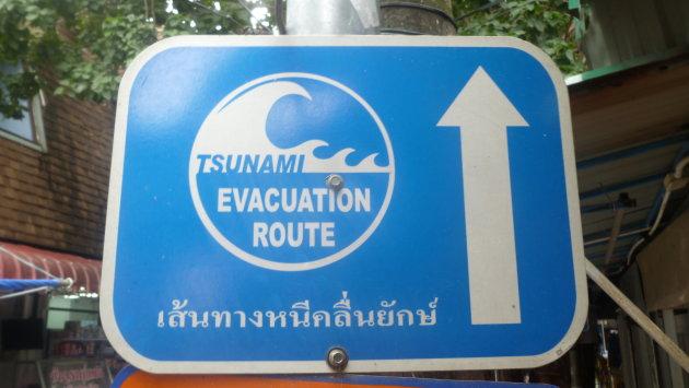 Evacuatiebord Koh Phi Phi