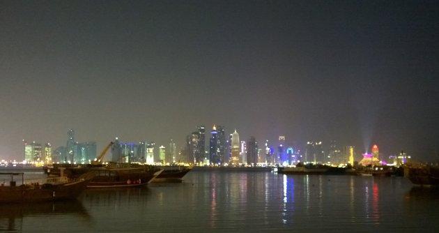 Doha bij nacht