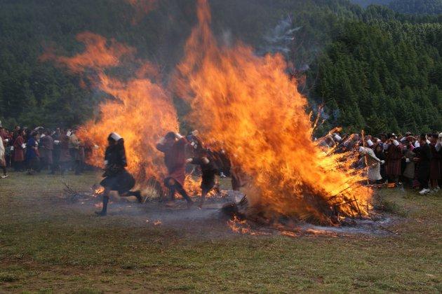 Fire Blessing tijdens ThangbiMani festival