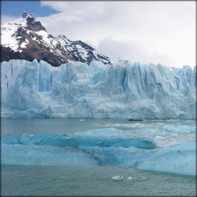 Gletsjers, ijs en ijsschotsen