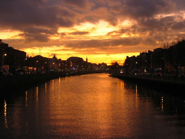 Sunset on the liffey