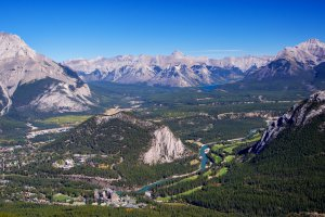 Banff, the valley