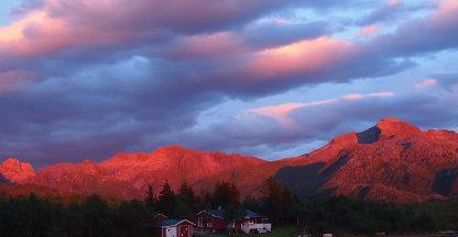 Zonsondergang op Lofoten