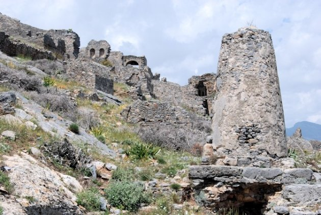 Anemurium of Anamurium Antik Kenti een oude Romeins-Byzantijnse stad