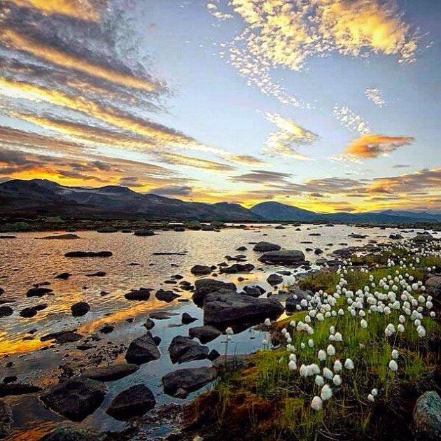 Sunset on Valdresflya