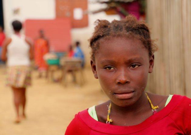 Op een bankje in Angolares