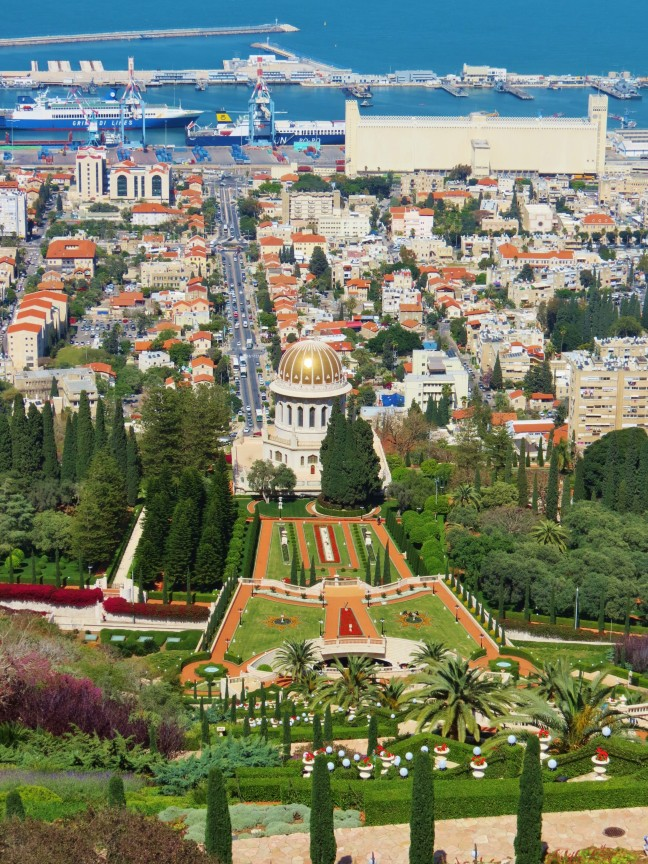 Uitzicht op Haifa