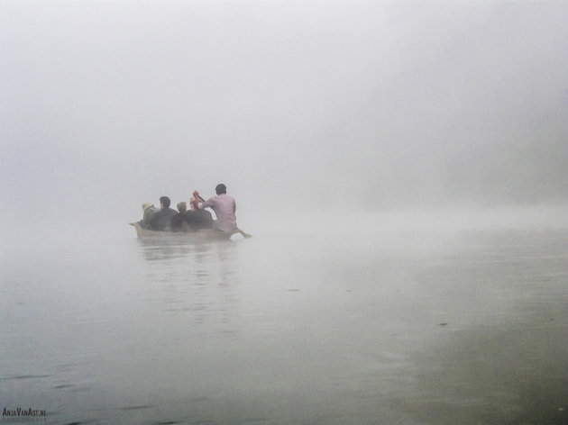 Kano in de mist