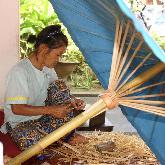 Handgemaakte parasols