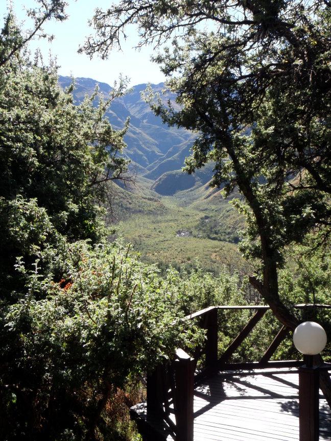 Uitzicht rondavel Maliba lodge