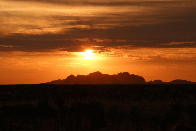 Magische zonsondergang bij Kata Tjuta