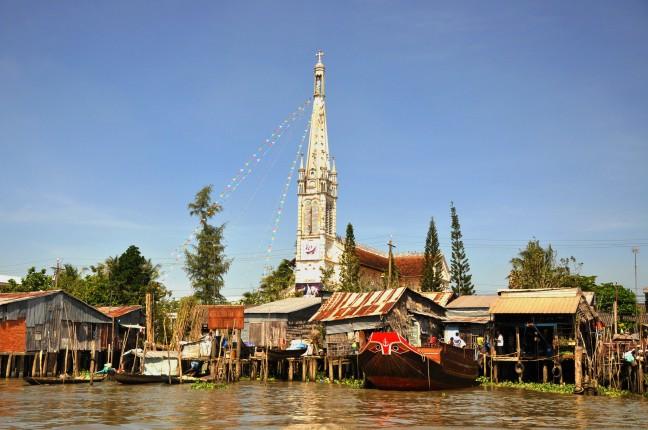 Varen door de Mekong Delta