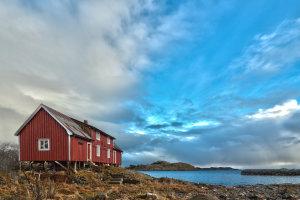 Vissershuis aan de kust