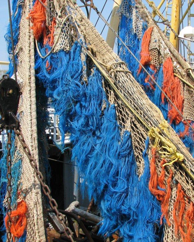 Kleurenpalet in de vissershaven