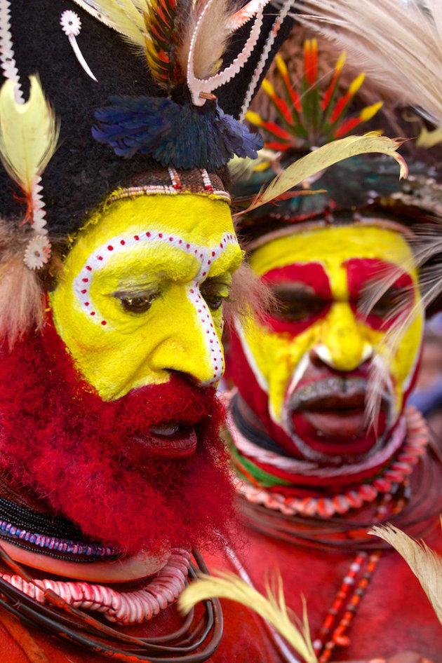 Kleurrijk festival in Goroka