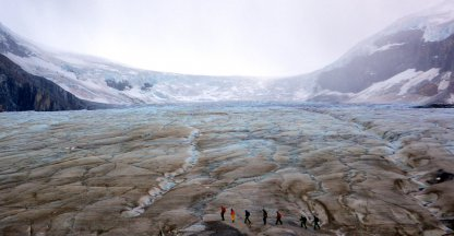 Wandeltocht Athabasca Glacier