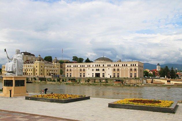 stadsbeeld Skopje