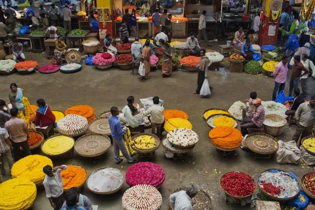 Bloemenmarkt Bangalore