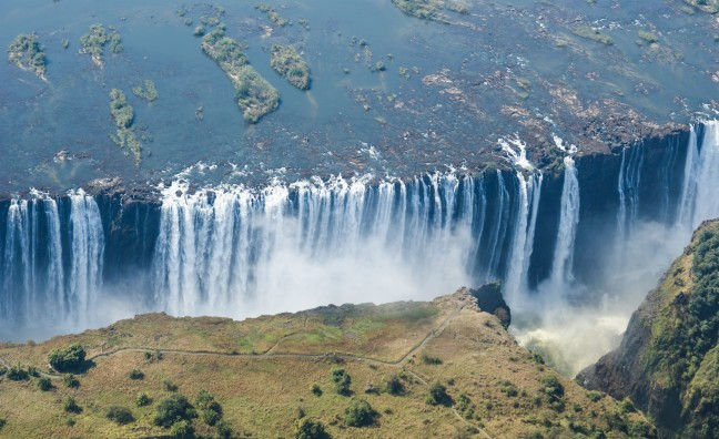 Helicopter vlucht over de Vic Falls