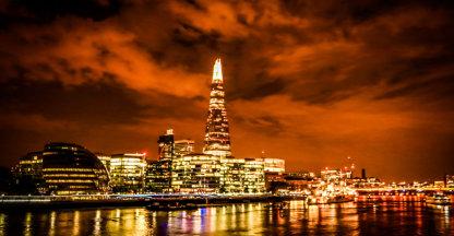 Londen at night.