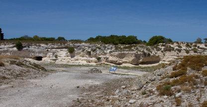 De steengroeve op Robbeneiland