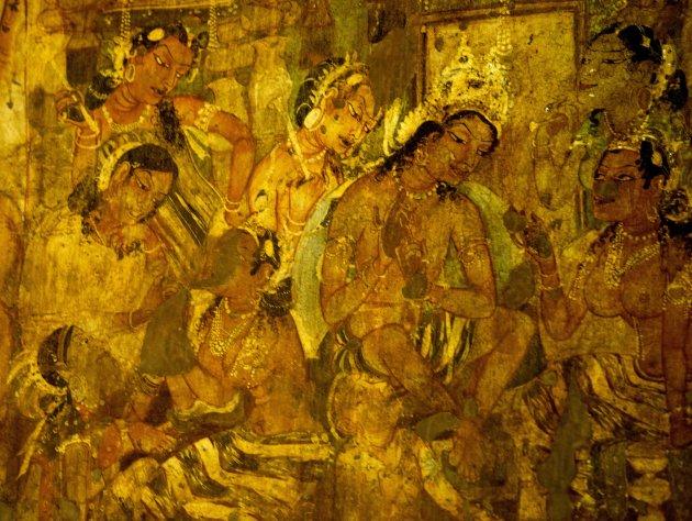 Muurschilderingen Ajanta 2