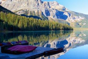Kanoën op Emerald lake