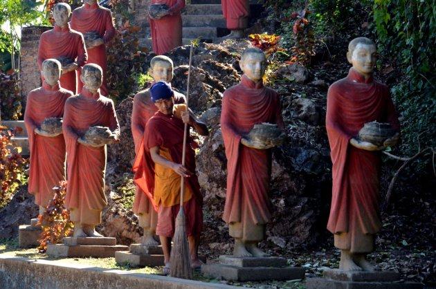 Grote aantal boeddha''s